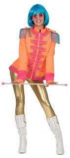 Sergeant Pepper Kostüm Damen Beatles Jacke orange pink Popstar Damen-Kostüm KK