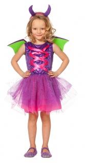 Drachen-Kostüm Kinder mit Flügel-n Drache MädchenKostüm Fasching Karneval KK