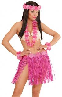 Kostüm Hawaii Set rosa 5 Tlg Dame Kostüm Karneval Sommerparty Damenkostüm