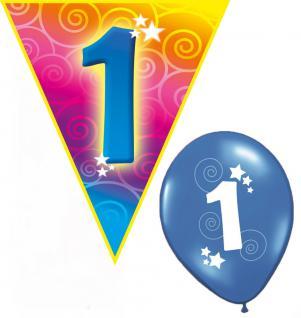 Set Kindergeburtstag Luftballons und Girlanden 1 Jahr