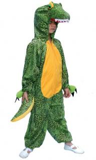 Krokodil Kostüm Kinder Plüsch Krokodil-Kopf Kinder-Kostüm Krokodil-Overall KK