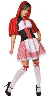 Rotkäppchen Kostüm Damen sexy Märchen-Kostüm Damenkostüm Karneval Fasching KK