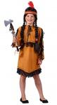 Indianerin Kostüm Mädchen Indianer Squaw Pocahontas braun Stirnband Karneval KK