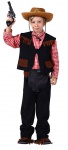 Cowboy Kostüm Kinder Westernkostüm Sheriff braun Weste Hose Chaps Hemd Fasching