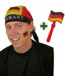Klapperhand Fußball Deutschland mit Kopftuch schwarz rot gold Fan-Artikel WM KK