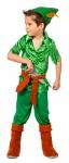 Peter Pan Kostüm Kinder Bogenschütze Kostüm Jungen-Kostüm mit Stulpen und Messer