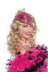 Pillbox Hut Damen 20er 30er Jahre Damenhut pink Faschings-Hut Cocktail-Party Hut