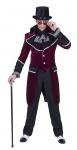 Barock Rokoko Kostüm Herren Gothic Frack Bordeaux aus Samt Karneval Fasching KK