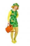 Gärtner Kostüm Damen Gärtnerin grün Sonnenblume Fasching Karneval Damenkostüm KK