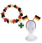 Haarreif Deutschland Fan-Haarreif mit Hawaiikette Fan Fußball Deutschland WM KK