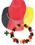 Fan Hut Deutschland aus Filz WM mit Hawaiikette Deutschland Fan-Artikel Fußball