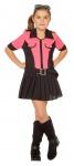 Polizistin Kostüm Polizist Kostüm Mädchen pink schwarz Kinder-Kostüm KK