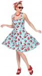 50er Jahre Kostüm Damen Rockabilly-Kleid Frauen Rock n Roll Karneval Fasching KK
