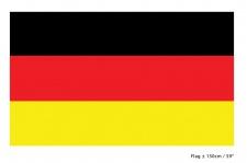 Deutschland Fahne Flagge 90 x 150 cm. Fan-Artikel schwarz rot gold Handball WM K