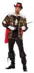 Musketier Kostüm Herren schwarz gold mit Cape Mittelalter-Kostüm Herren-Kostüm K