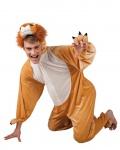 Löwenkostüm Erwachsene Plüsch Löwe Overall Kapuze Tierkostüm Herrenkostüm KK