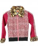 Disco-Kostüm Mädchen Jacke Rock Star Mädchen Kostüm Jacke rosa Popstar Kostüm KK