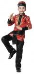 Chinesen Kostüm Kinder Jungen rot schwarz Chinesenhut China Karneval Fasching KK