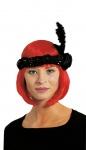 Charleston Kopfschmuck Charleston Haarschmuck mit Feder schwarz 20er Karneval KK