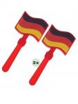 Klapperhand 2 Stück Fußball Fan-Artikel schwarz rot gold WM Deutschland 2018 KK