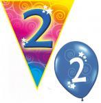 Set Kindergeburtstag Luftballons und Girlanden 2 Jahr