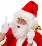Perücke Weihnachtsmann weiß Weihnachtsmann-Bart Augenbrauen Weihnachtsmütze KK