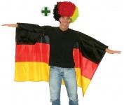 Fußball Fan-Artikel: Perücke Locken Afro Deutschland Germany Umhang WM 2018 KK