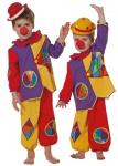 Clown-kostüm Baby Clown kostüm Klein-Kinder Oberteil und Hose Bunt KK