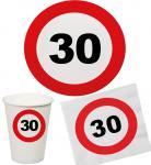 Party Set 32 Teile Geburtstag 30 Jahre Verkehrsschild