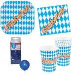 Oktoberfest Deko Party Set XXL Bayern 36 Teile Teller Becher Servietten, Ballons