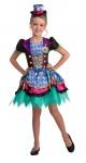 Hutmacher Kostüm Kinder Haarreif mit Hut Alice im Wunderland Mädchen-Kostüm KK