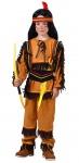 Indianer Kostüm Kinder Jungenkostüm braun mit Stirnband Karneval Fasching KK