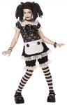 Horror Puppe Mädchen-Kostüm Mörderpuppe Horror-Doll MIT Perücke HalloweenKostüm