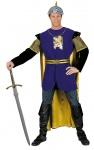 Ritter Kostüm Herren blau gold Mittelalter Löwenherz Kreuzritter Fasching KK