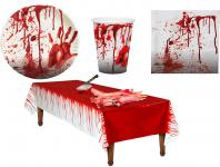 Tischdeko Halloween Party-Geschirr Halloween Blut Party Set XL Horror 37 St. KK