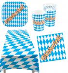 Oktoberfest Deko Party Set Bayern 25 Teile Teller Becher Servietten Tischdecke