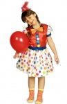 Clown Kostüm Mädchen bunt Punkte süßes Clownkostüm Harlekin Zirkus Kinderkostüm