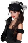 Handschuhe schwarz lang Satin Charleston 20er Jahre Karneval Fasching KK