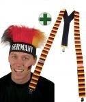 Hosenträger Deutschland mit Perücke Deutschland Fan-Artikel Fußball WM KK