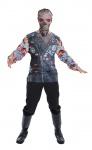 Skelett T-Shirt und Maske Erwachsene 3D Skelett Horror Herren-Kostüm Halloween K