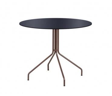 Point Weave Gartentisch mit HPL Tischplatte 70 × 70 oder Ø 70 cm