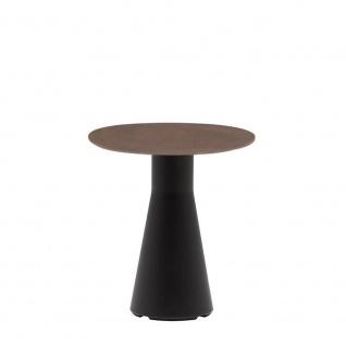 Andreu World Reverse 45 Outdoor Beistelltisch mit Keramik Tischplatte • Gestell Ø 21 cm • verschiedene Größen