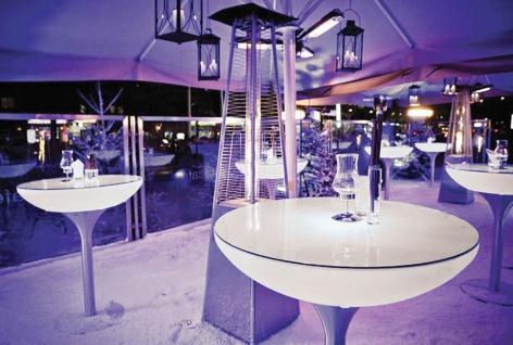 Moree Beistelltisch Lounge M Outdoor H45 cm inkl. Glasplatte Ø 60 cm - Vorschau 4