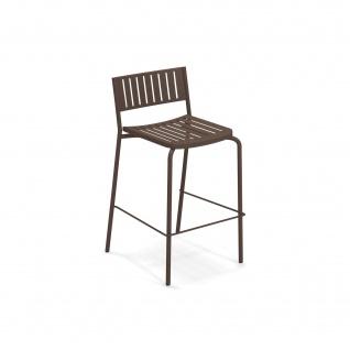 2 Stück • Emu Bridge Barstühle • Barhocker mit Metall Sitzschale, stapelbar