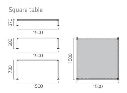 Coro Nest Lounge Tisch 150 quadratisch - Vorschau 2