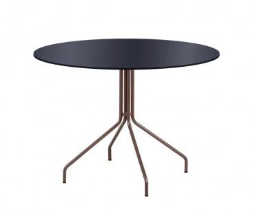 Point Weave Gartentisch mit HPL Tischplatte Ø 80 oder 80 × 80 cm