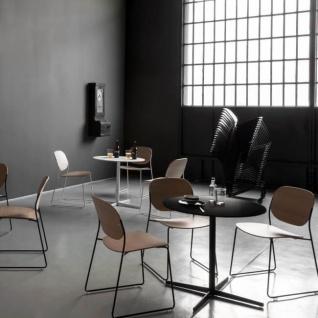 Lapalma Auki Gartentisch rund / Esstisch rund Ø 80 cm / weiß oder schwarz - Vorschau 3