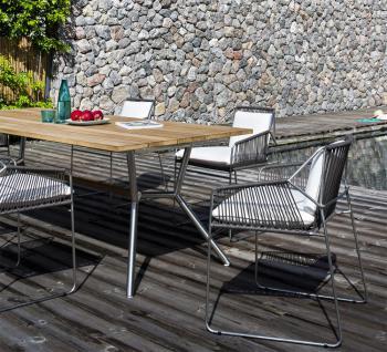 OASIQ REEF Gartentisch 180 x 100 cm • Outdoor Esstisch mit Aluminiumgestell - Vorschau 3