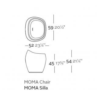 Vondom Moma • Gartenhocker, H 54 cm - Vorschau 3