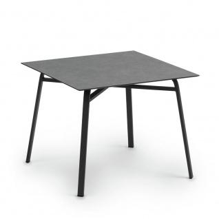 Weishäupl Ahoi Esstisch 90 cm mit HPL- oder Teakholz-Tischplatte